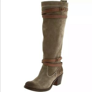 Frye Jane Fatigued Oiled Suede Strappy Boot
